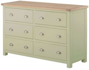 Classic Portland Painted Sage 6 Drawer Chest