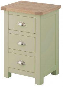 Classic Portland Painted Sage 3 Drawer Bedside Cabinet