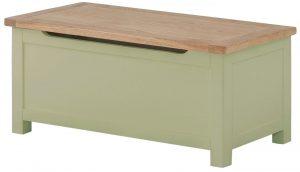 Classic Portland Painted Sage Blanket Box
