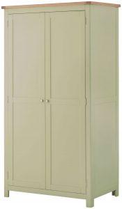 Classic Portland Painted Sage 2 Door Wardrobe
