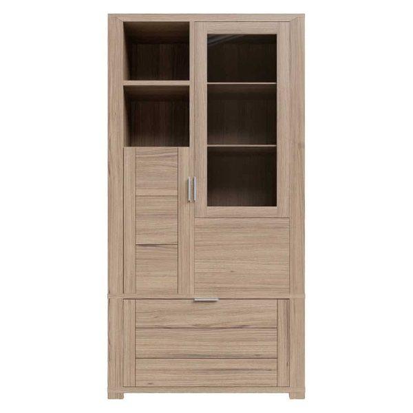 Laguna Oak Display Cabinet | Fully Assembled