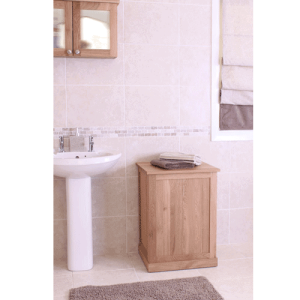 Baumhaus Mobel Oak Laundry Bin | Fully Assembled