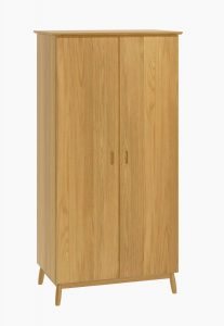 Malmo Scandi Style Oak 2 Door Wardrobe