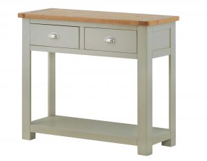 Classic Portland Painted Stone 2 Drawer Console Table
