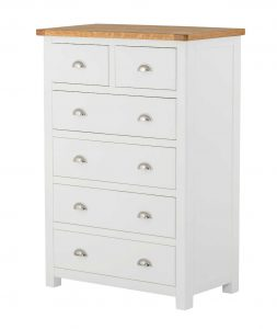 Classic Portland Painted White 2 over 4 Chest
