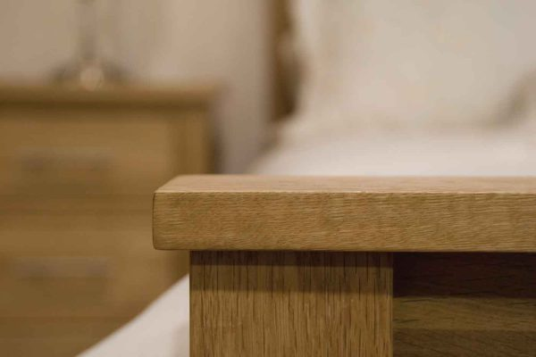 Homestyle Opus Solid Oak Blanket Box | Fully Assembled