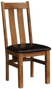 Devonshire Rustic Oak Arizona Dining Chair (Pair) | Fully Assembled