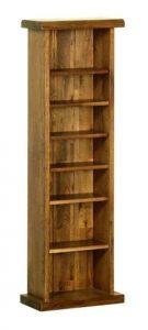Devonshire Rustic Oak CD/DVD Rack (adjustable shelves) | Fully Assembled
