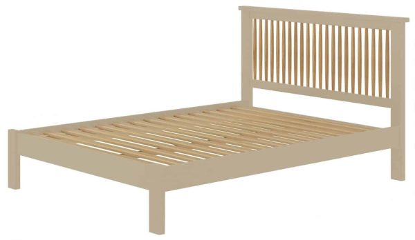 Classic Portland Painted Pebble 4'6″ Double Bed