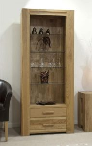 Homestyle Trend Solid Oak Tall Bookcase 2 Drawers | Fully Assembled