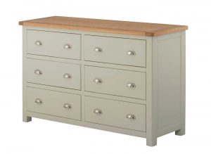 Classic Portland Painted Stone 6 Drawer Chest