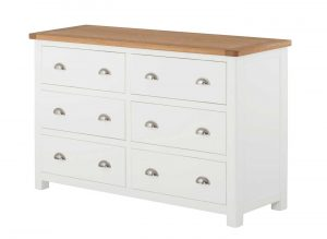 Classic Portland Painted White 6 Drawer Chest
