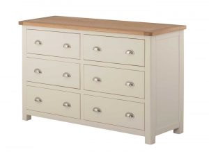 Classic Portland Painted Cream 6 Drawer Chest | Fully Assembled