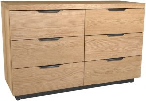 Classic Fusion Industrial Oak 6 Drawer Wide Chest
