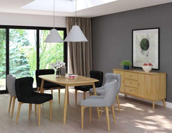 Malmo Scandi Style Oak 1 Door, 3 Drawer Sideboard