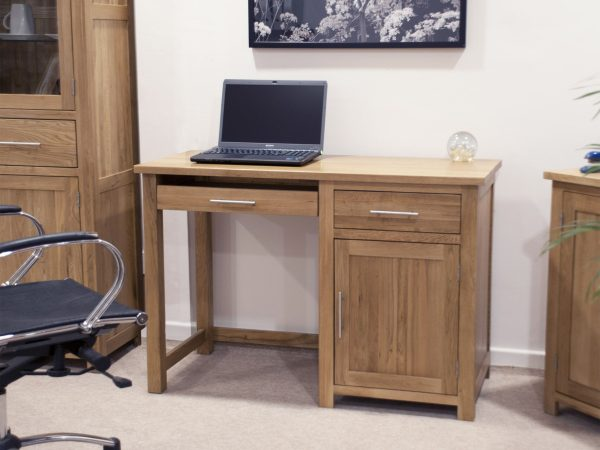 Homestyle Opus Solid Oak Small Computer Desk   Fully Assembled