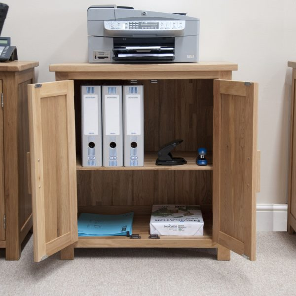 Homestyle Opus Solid Oak 2 Door Printer/Occasional Cabinet | Fully Assembled