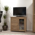 Homestyle Opus Solid Oak Small Glazed 3 Drawer 1 Door Sideboard | Fully Assembled
