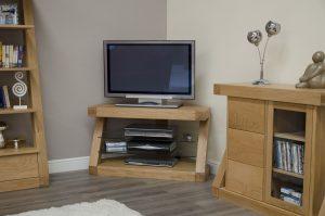 Homestyle Z Solid Oak Corner TV Unit  Fully Assembled