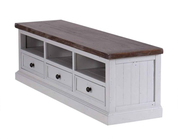 The Hamptons TV Unit with 3 Drawers