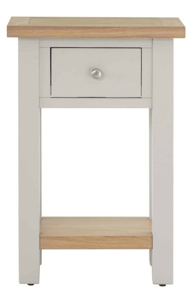 Besp-Oak Vancouver Compact Grey 1 Drawer Console Hall Table | Fully Assembled