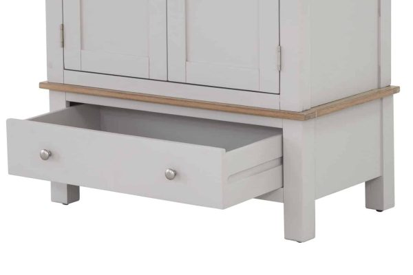 Besp-Oak Vancouver Compact Painted Grey Double Wardrobe with 1 Drawer