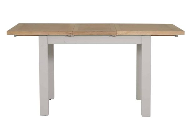 Besp-Oak Vancouver Compact Grey Extending Dining table 1.2M – 1.6M