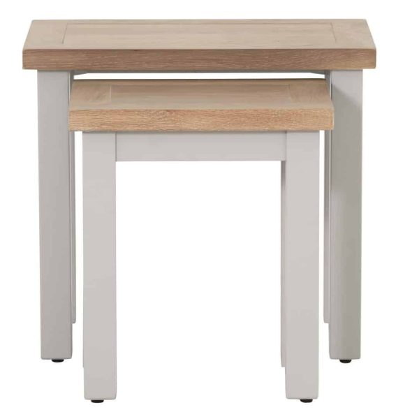 Besp-Oak Vancouver Compact Grey Nest of 2 Tables | Fully Assembled