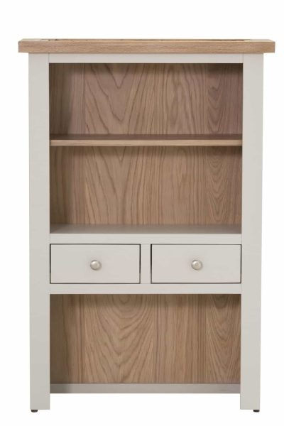 Besp-Oak Vancouver Compact Grey 2 Drawer Hutch (Top Only) | Fully Assembled