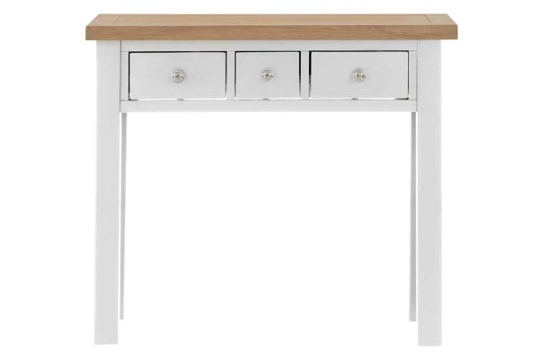 Besp-Oak Vancouver Compact Grey Dressing Table with 3 Drawers