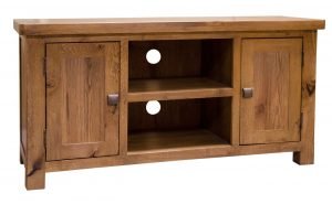 Homestyle Aztec Oak 2 Door TV Cabinet | Fully Assembled