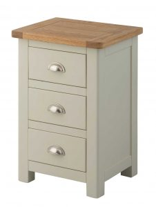 Classic Portland Painted Stone 3 Drawer Bedside Cabinet