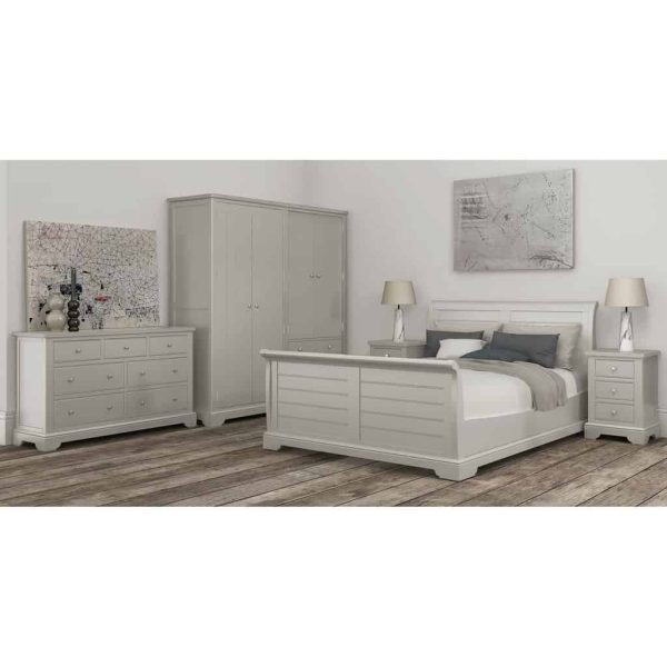 Berkeley Painted Grey 4'6″ Double Sleigh Bed
