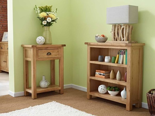 Besp-Oak Vancouver Select Oak 1 Drawer Console Hall Table