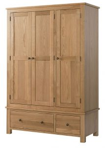 Devonshire Burford Oak Triple Wardrobe with 2 Drawers