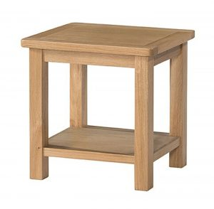 Devonshire Burford Oak Lamp Table with Shelf