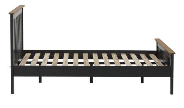 Besp-Oak Vancouver Compact Black Grey 4'6″ Double Bed