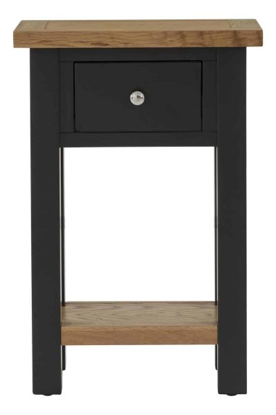 Besp-Oak Vancouver Compact Black Grey 1 Drawer Console Hall Table