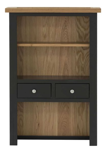 Besp-Oak Vancouver Compact Black Grey 2 Drawer Hutch (Top Only) | Fully Assembled