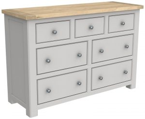 Bretagne Painted 7 Drawer Wide Chest | Fully Assembled