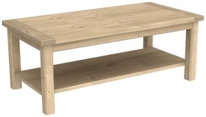 Bretagne Oak Coffee Table With Shelf