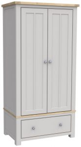 Bretagne Painted Gents 2 Door 1 Drawer Wardrobe