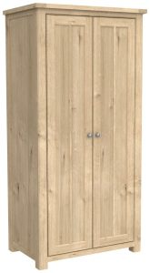 Bretagne Oak Full Hanging 2 Door Double Wardrobe