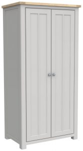 Bretagne Painted Full Hanging 2 Door Double Wardrobe