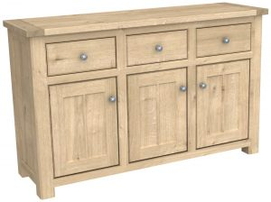 Bretagne Oak 3 Door 3 Drawer Sideboard | Fully Assembled