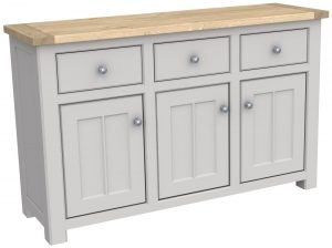 Bretagne Painted 3 Door 3 Drawer Sideboard | Fully Assembled