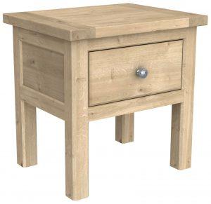Bretagne Oak Lamp Table With Shelf
