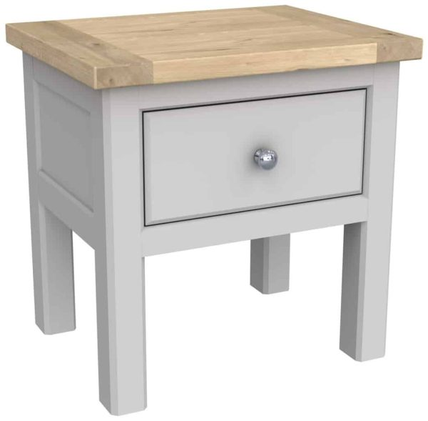 Bretagne Painted Lamp Table With Shelf | Fully Assembled