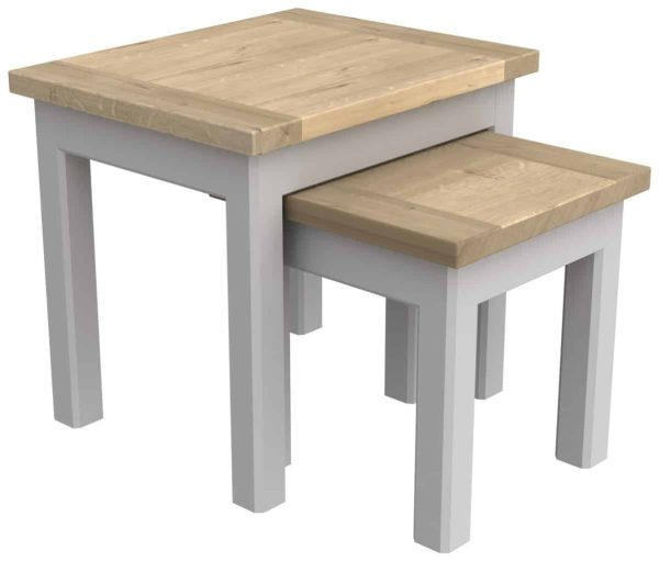 Bretagne Painted Nest of Tables   Fully Assembled
