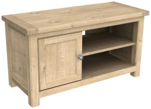 Bretagne Oak 1 Door TV Cabinet | Fully Assembled
